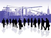 Mensen en gebouwen vector illustratie