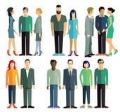 Mensen en groepen Stock Afbeelding
