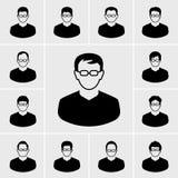 Mensen en mensenpictogrammen vectorreeks Stock Afbeelding