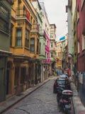 Mensen en stad van Istanboel Stock Afbeeldingen
