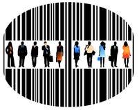 Mensen en streepjescode vector illustratie
