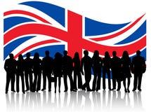 Mensen en vlag Royalty-vrije Stock Foto