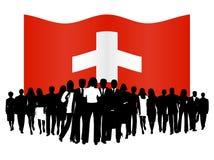 Mensen en vlag Stock Foto