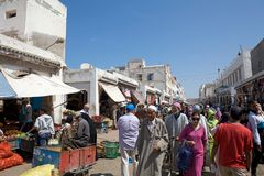 Mensen in essaouira Marokko Royalty-vrije Stock Foto