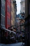 Mensen in Gamla Stan Royalty-vrije Stock Afbeelding