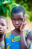 Mensen in GHANA Royalty-vrije Stock Foto's