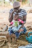 Mensen in GHANA Royalty-vrije Stock Foto