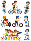 Mensen het biking Royalty-vrije Stock Foto