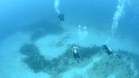 Mensen het duiken stock footage