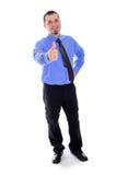 Mensen het glimlachen, duimen omhoog in overhemd en band Stock Foto