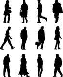 Mensen het Lopen royalty-vrije illustratie
