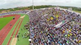 Mensen in het stadion