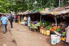 Mensen in Kenia, de zwarte mensen, het leven van mensen in Afrika Royalty-vrije Stock Afbeelding