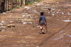Mensen in Kenia, de zwarte mensen, het leven van mensen in Afrika Stock Foto