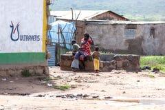 Mensen in Kenia, de zwarte mensen, het leven van mensen in Afrika Royalty-vrije Stock Foto's