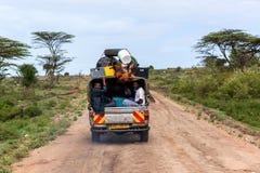 Mensen in Kenia, de zwarte mensen, het leven van mensen in Afrika Royalty-vrije Stock Afbeeldingen