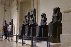 Mensen in Louvre Stock Fotografie