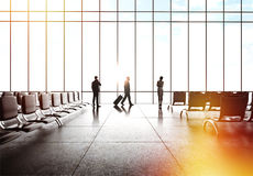 Mensen in luchthaven royalty-vrije stock fotografie