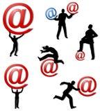 Mensen met Ampersand bij Symbolen Stock Afbeelding