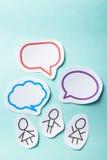 Mensen met bellen sociaal voorzien van een netwerk Royalty-vrije Stock Afbeelding