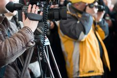 Mensen met camera's Royalty-vrije Stock Afbeelding