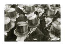 Mensen met cilinders royalty-vrije illustratie