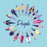 Mensen met gehouden handen vector illustratie
