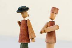 Mensen met hoeden Stock Afbeeldingen