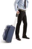 Mensen met koffer stock fotografie