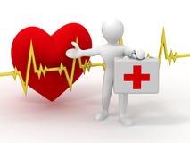 Mensen met medisch geval vector illustratie