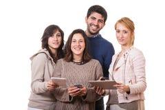 Mensen met PC van de Tablet Stock Fotografie