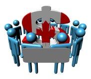 mensen met teken en Canadese Dollar Royalty-vrije Stock Foto