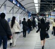Mensen in metro Royalty-vrije Stock Foto