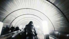 Mensen in metro. Tijdtijdspanne.