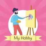 Mensen mijn hobby royalty-vrije illustratie