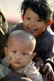 Mensen in Naypyitaw, Myanmar royalty-vrije stock foto