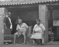 Mensen - Negombo vissenmarkt -2 (Sri Lanka - Azië) Stock Afbeeldingen