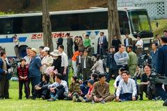 Mensen in NOORD-KOREA Royalty-vrije Stock Afbeeldingen