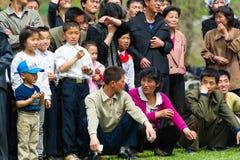 Mensen in NOORD-KOREA Stock Afbeeldingen