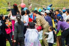 Mensen in NOORD-KOREA Stock Foto's