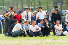 Mensen in NOORD-KOREA Royalty-vrije Stock Afbeelding