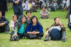 Mensen in NOORD-KOREA Stock Fotografie