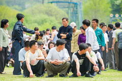 Mensen in NOORD-KOREA Royalty-vrije Stock Fotografie