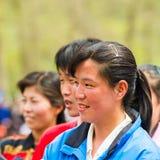 Mensen in NOORD-KOREA Stock Foto