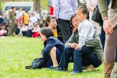 Mensen in NOORD-KOREA Royalty-vrije Stock Foto