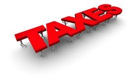 Mensen ondersteunend belastingen Stock Foto's