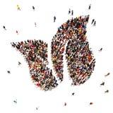 Mensen ondersteunend een vriendschappelijk de wereldmilieu van Eco Royalty-vrije Stock Afbeeldingen