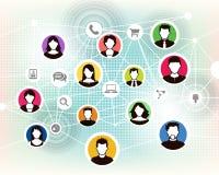 Mensen online achtergrond vector illustratie