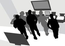 Mensen op bureau Stock Afbeelding