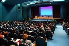 Mensen op conferentie Stock Afbeelding